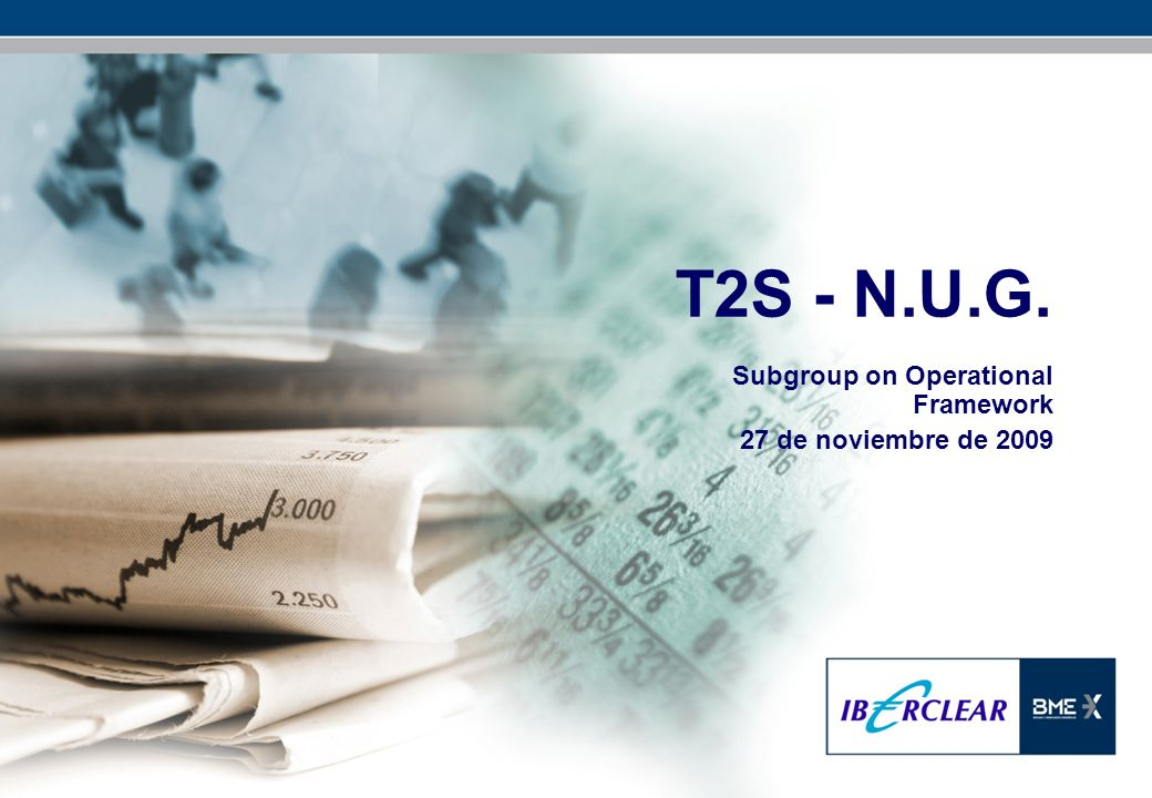 T2S - N.U.G. Subgroup on Operational Framework 27 de noviembre de 2009