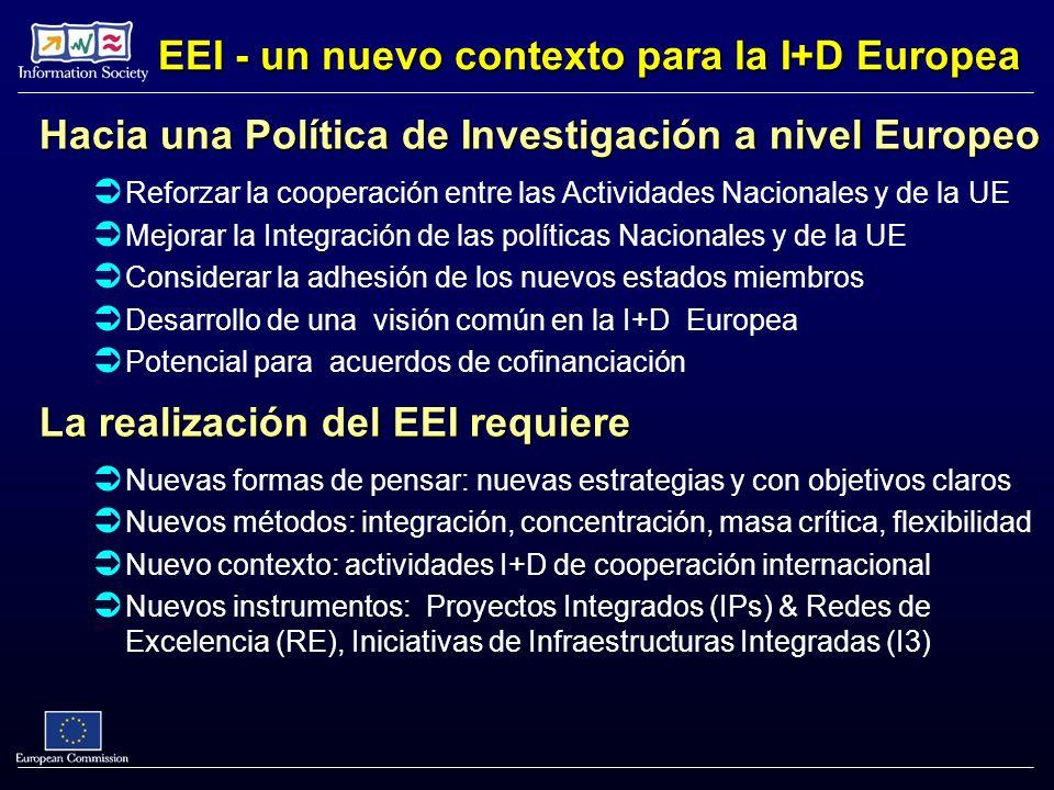 Hacia una Política de Investigación a nivel Europeo Reforzar la cooperación entre las Actividades Nacionales y de la UE Mejorar la Integración de las