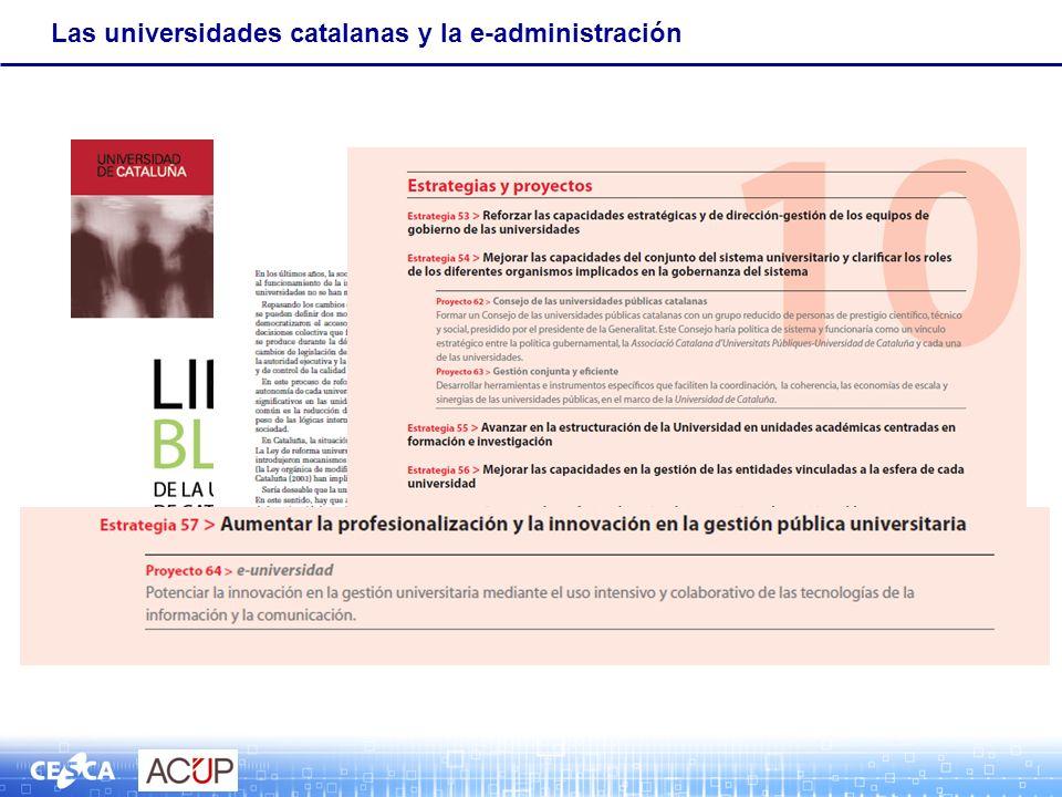 Las universidades catalanas y la e-administración