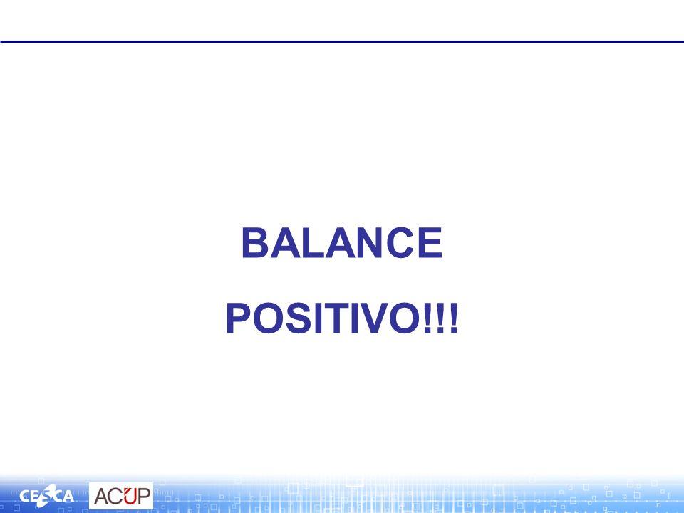 BALANCE POSITIVO!!!