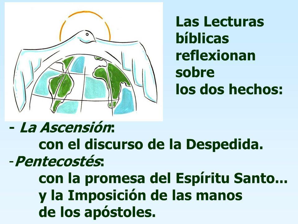 La Iglesia celebra en los próximos días dos grandes fiestas: ASCENSIÓN y PENTECOSTÉS.