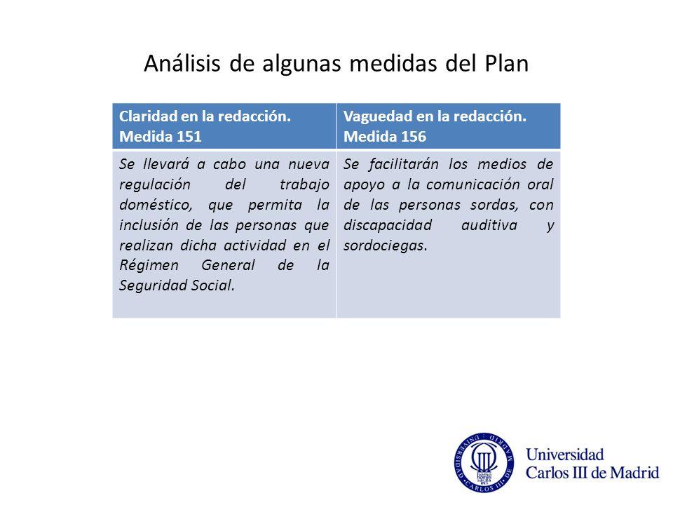 Análisis de algunas medidas del Plan Claridad en la redacción.