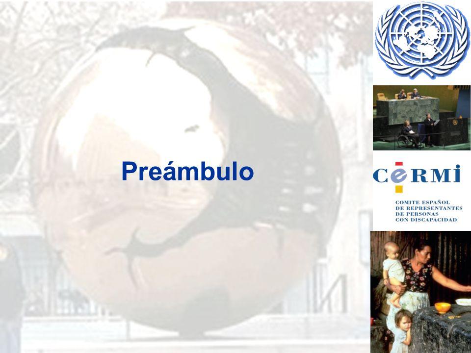 ALUSIÓN A OTROS TRATADOS INTERNACIONALES DE DERECHOS HUMANOS: a) Recordando que los principios de la Carta de las Naciones Unidas que proclaman que la libertad, la justicia y la paz en el mundo tienen por base el reconocimiento de la dignidad y el valor inherentes y de los derechos iguales e inalienables de todos los miembros de la familia humana, b) Reconociendo que las Naciones Unidas, en la Declaración Universal de Derechos Humanos y en los Pactos Internacionales de Derechos Humanos, han reconocido y proclamado que toda persona tiene los derechos y libertades enunciados en esos instrumentos, sin distinción de ninguna índole,