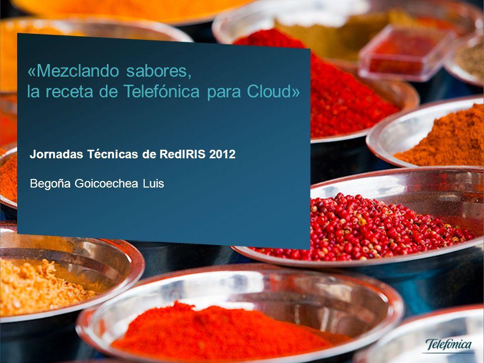 1 Telefónica España Empresas Grandes Proyectos Outsourcing «Mezclando sabores, la receta de Telefónica para Cloud» Jornadas Técnicas de RedIRIS 2012 B