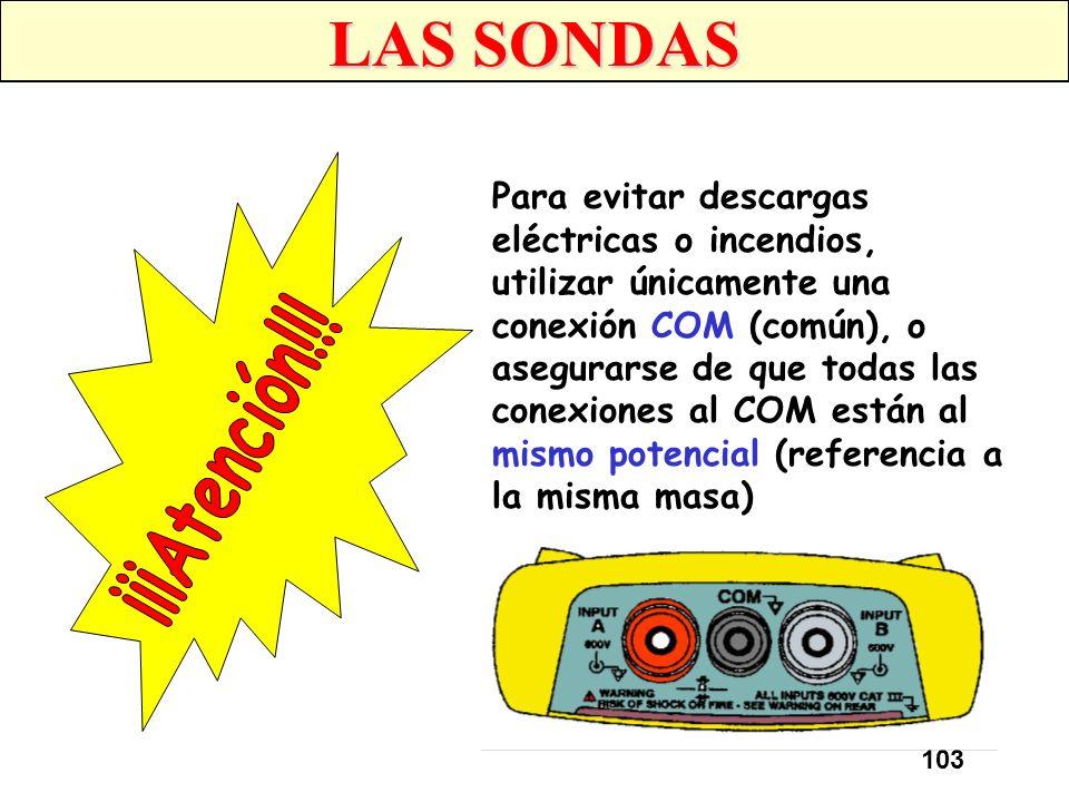 102 CONEXIONES DE ENTRADA Los osciloscopios, normalmente, proporcionan dos entradas (canales) de seguridad para clavija apantallada de 4 mm (entrada A