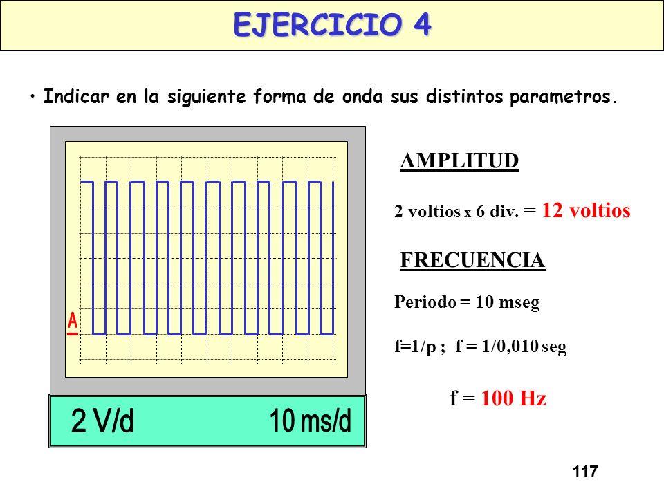 116 AMPLITUD (II) Conceptos: AMPLITUD (II) La Amplitud de una onda senoidal suele darse como su valor eficaz, que es igual aproximadamente al 70,7% de