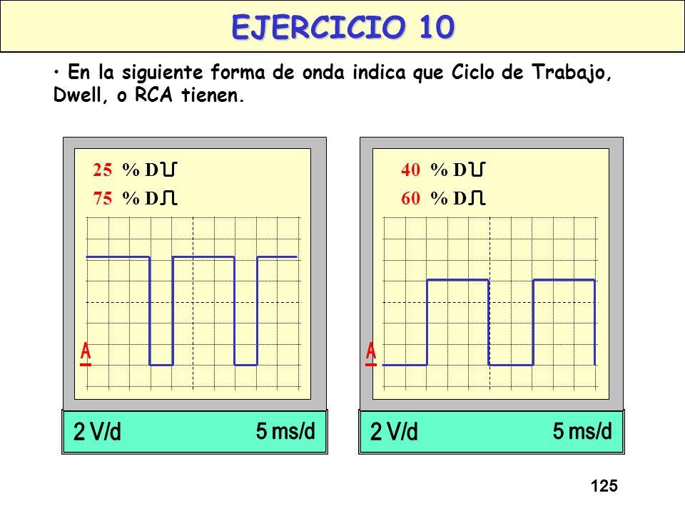124 OSCILOSCOPIOS PARA AUTOMOCION En los osciloscopios utilizados en automoción, normalmente, en la pantalla aparecen numéricamente distintas magnitud