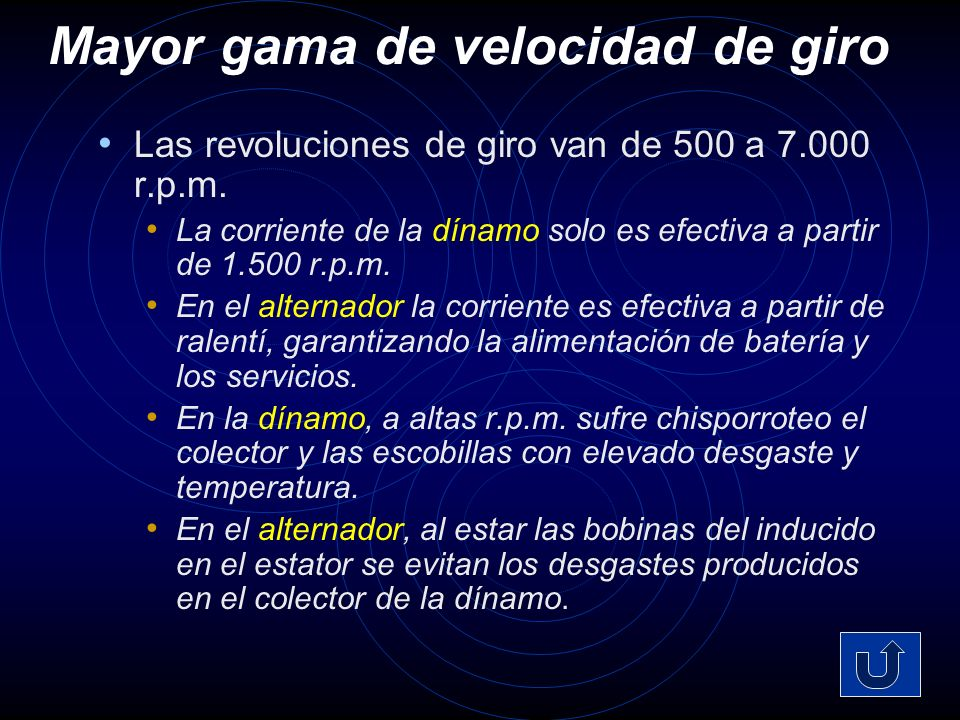 Mayor gama de velocidad de giro Las revoluciones de giro van de 500 a 7.000 r.p.m.