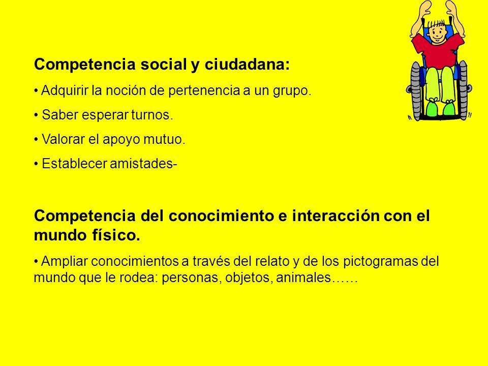 Competencia social y ciudadana: Adquirir la noción de pertenencia a un grupo.