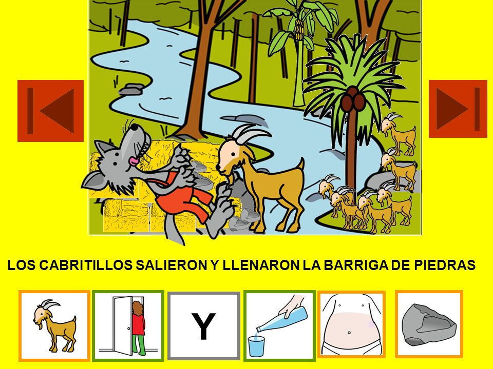 EL LOBO DORMÍA. CON UNAS TIJERAS CORTARON LA BARRIGA CON