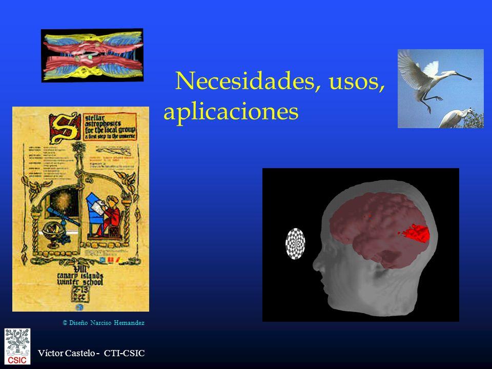 Víctor Castelo - CTI-CSIC Necesidades, usos, aplicaciones © Diseño Narciso Hernandez
