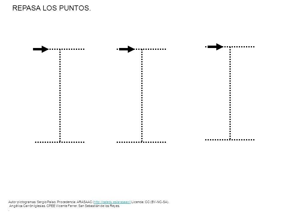 REPASA LOS PUNTOS. Autor pictogramas: Sergio Palao. Procedencia: ARASAAC (http://catedu.es/arasaac/) Licencia: CC (BY-NC-SA).http://catedu.es/arasaac/