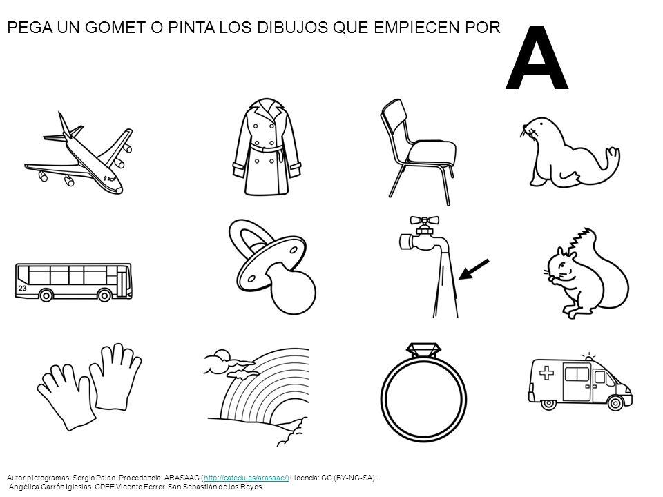 O Autor pictogramas: Sergio Palao.