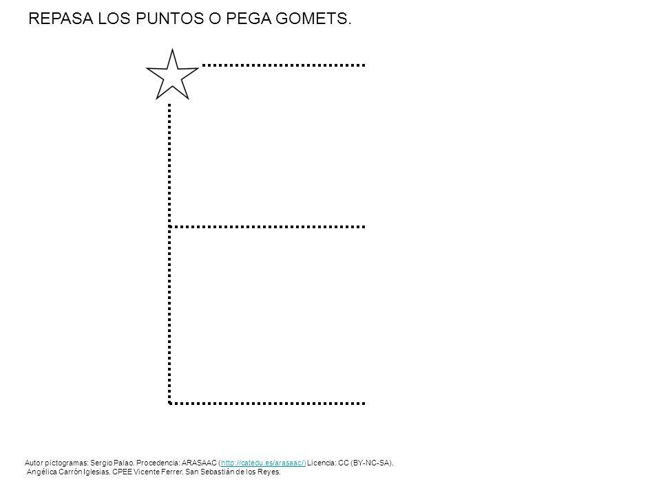 REPASA LOS PUNTOS.Autor pictogramas: Sergio Palao.