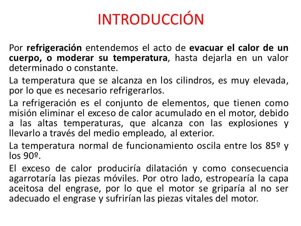 INTRODUCCIÓN Por refrigeración entendemos el acto de evacuar el calor de un cuerpo, o moderar su temperatura, hasta dejarla en un valor determinado o