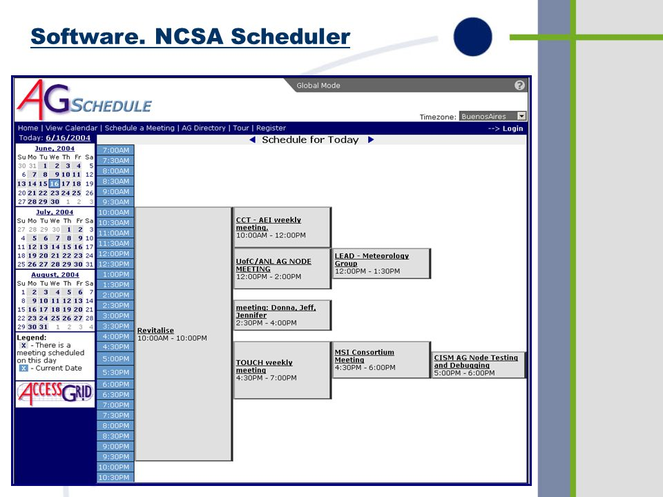 Software. NCSA Scheduler