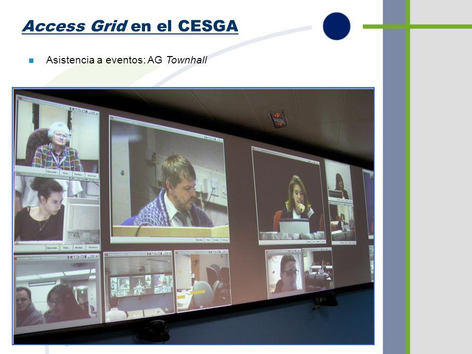 Access Grid en el CESGA n Asistencia a eventos: AG Townhall