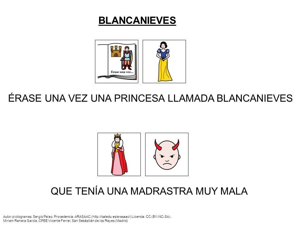 ¿QUÉ LE PASÓ A BLANCANIEVES.Autor pictogramas: Sergio Palao.