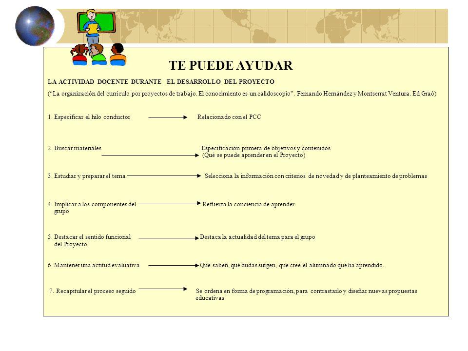 LA ACTIVIDAD DEL ALUMNADO DURANTE LA REALIZACIÓN DEL PROYECTO (La organización del currículo por proyectos de trabajo.