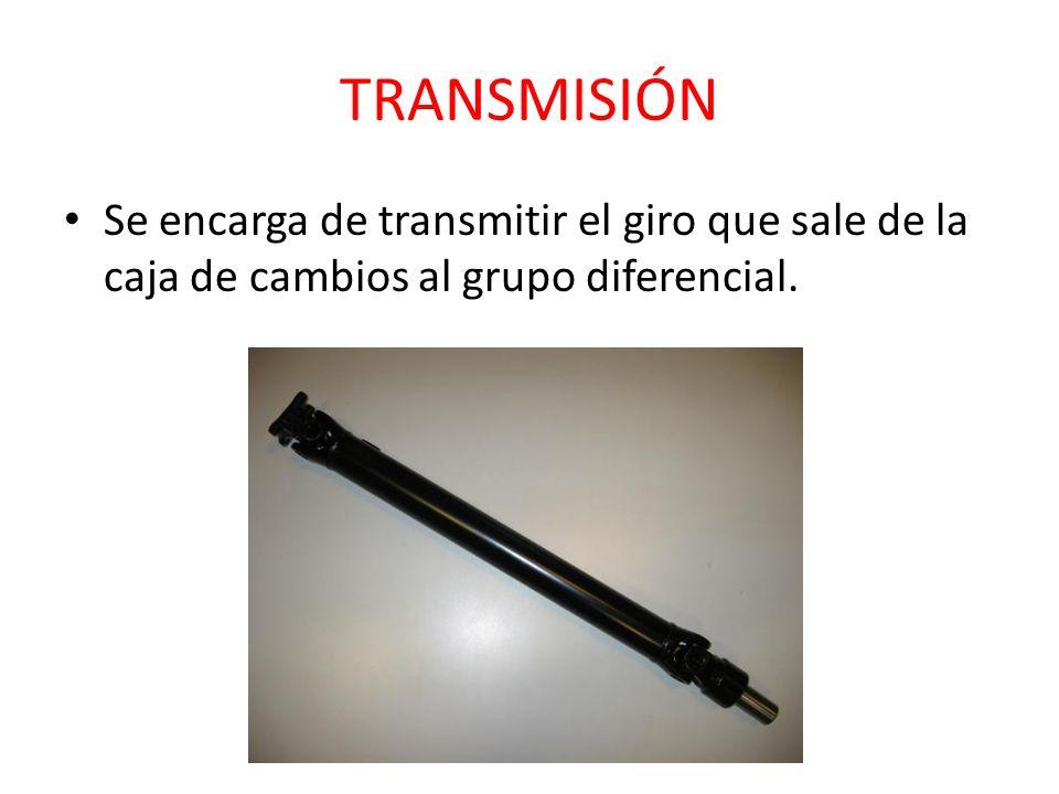 TRANSMISIÓN Se encarga de transmitir el giro que sale de la caja de cambios al grupo diferencial.