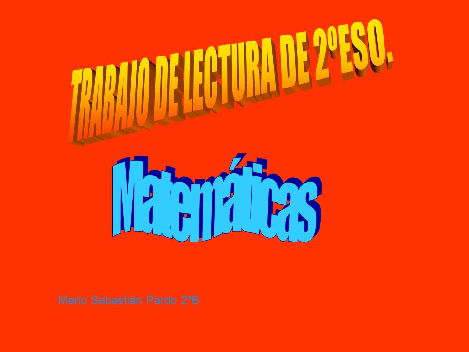 Mario Sebastián Pardo 2ºB