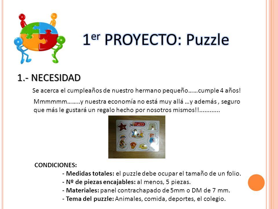 2.- IDEA-DESARROLLO DE LA IDEA Realiza diferentes bocetos del diseño que te gustaría que tuviera tu puzzle.