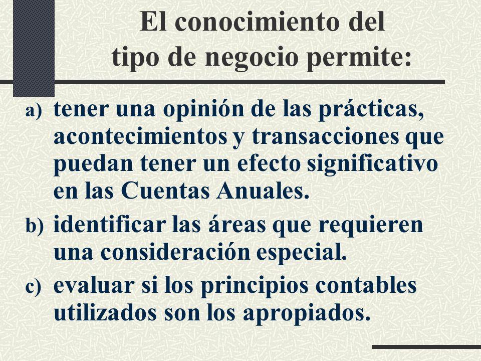 PLANIFICACIÓN -Perfil del cliente. Tipo de negocio. Sector. -Eficacia del sistema de control interno. -Principios contables que sigue la entidad. -...
