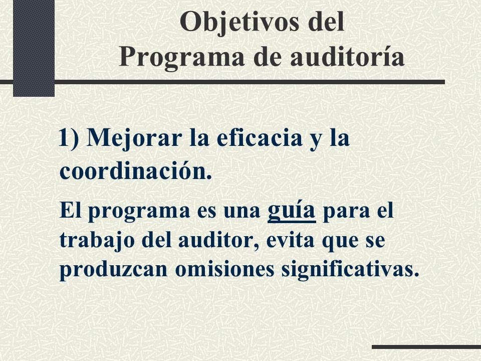 El Programa de auditoría Es una relación secuencial de las pruebas a realizar; o conjunto de actividades que el auditor se propone llevar a cabo.