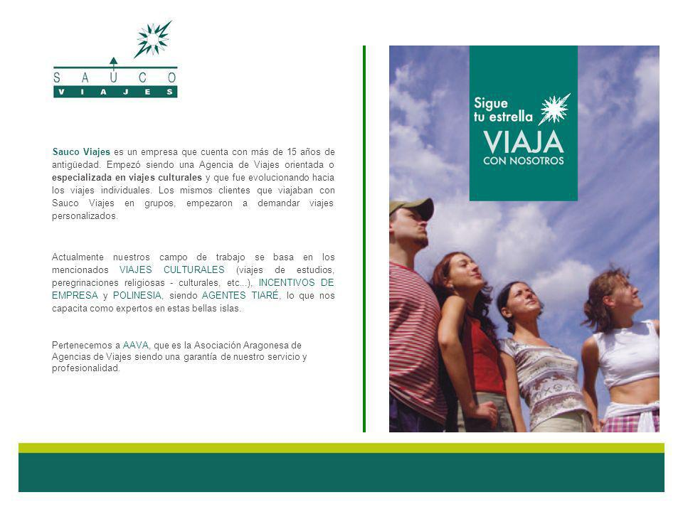 Sauco Viajes es un empresa que cuenta con más de 15 años de antigüedad. Empezó siendo una Agencia de Viajes orientada o especializada en viajes cultur