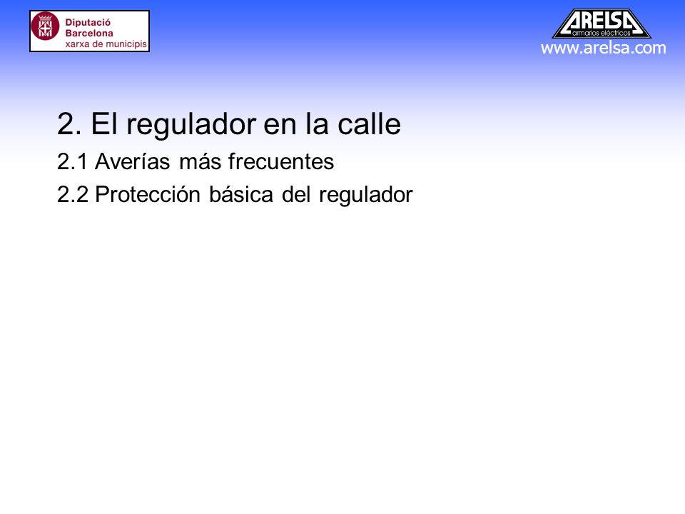 www.arelsa.com 2. El regulador en la calle 2.1 Averías más frecuentes 2.2 Protección básica del regulador