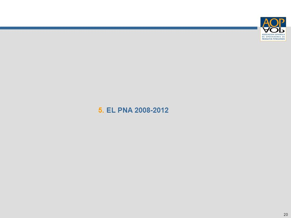 20 5. EL PNA 2008-2012