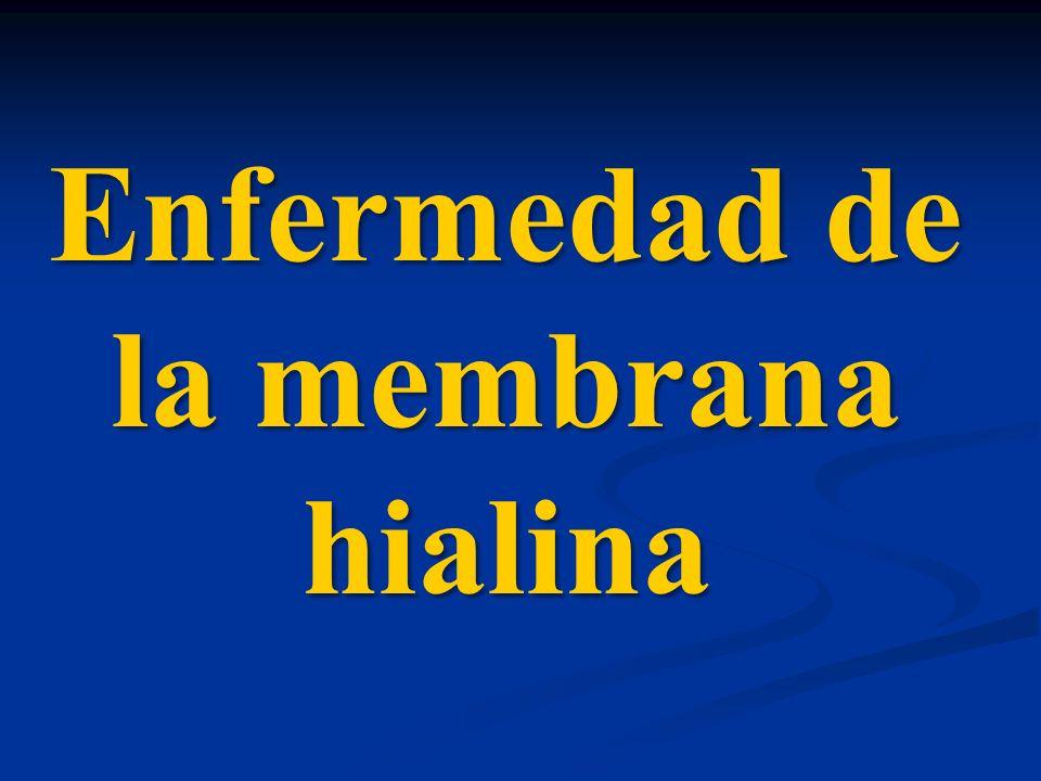Enfermedad de la membrana hialina