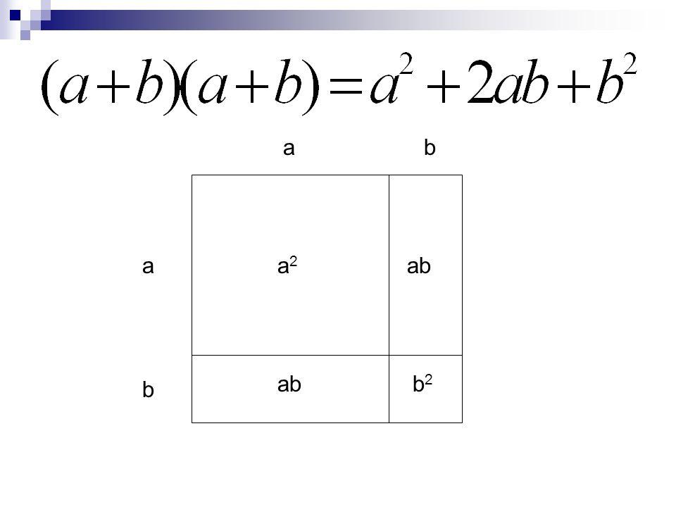 a a b b ab a2a2 b2b2