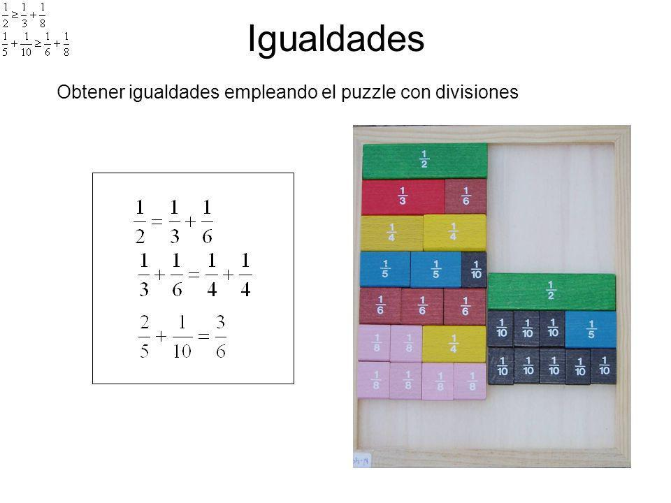 Desigualdades Obtener desigualdades empleando el puzzle con divisiones