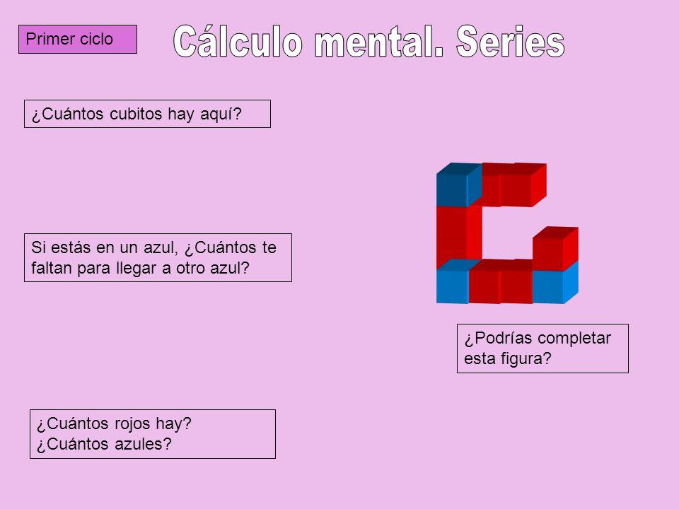 Tercer ciclo ¿Cuántos cubos tiene esta figura.