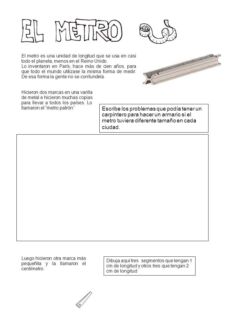 La regla La cinta métrica metálica La cinta métrica de tela o papel El metro de carpintero El metro de agrimensor Hace falta usarla con precisión.