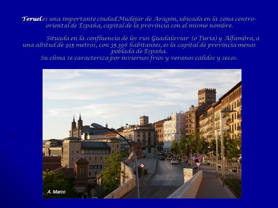 Teruel es una importante ciudad Mudéjar de Aragón, ubicada en la zona centro– oriental de España, capital de la provincia con el mismo nombre. Situada