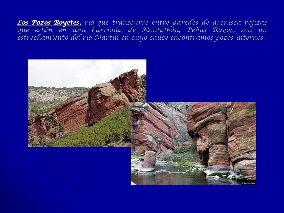 Los Pozos Boyetes, río que transcurre entre paredes de arenisca rojizas que están en una barriada de Montalbán, Peñas Royas, son un estrechamiento del