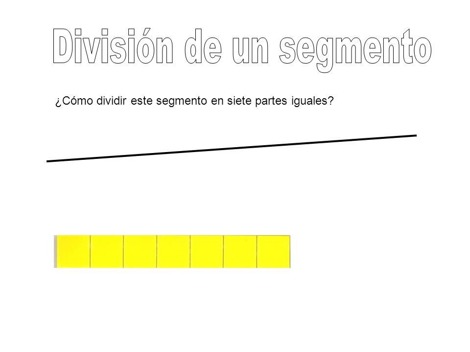 ¿Cómo dividir este segmento en siete partes iguales?