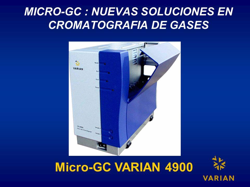 MICRO-GC : NUEVAS SOLUCIONES EN CROMATOGRAFIA DE GASES Micro-GC VARIAN 4900