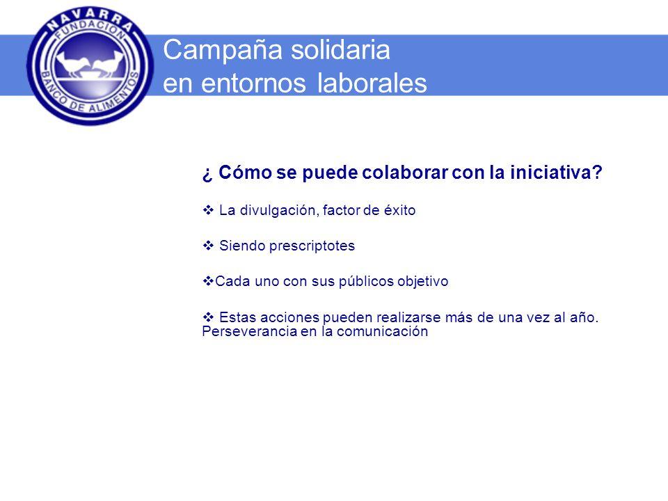 Muchas gracias por vuestra participación Campaña solidaria en entornos laborales