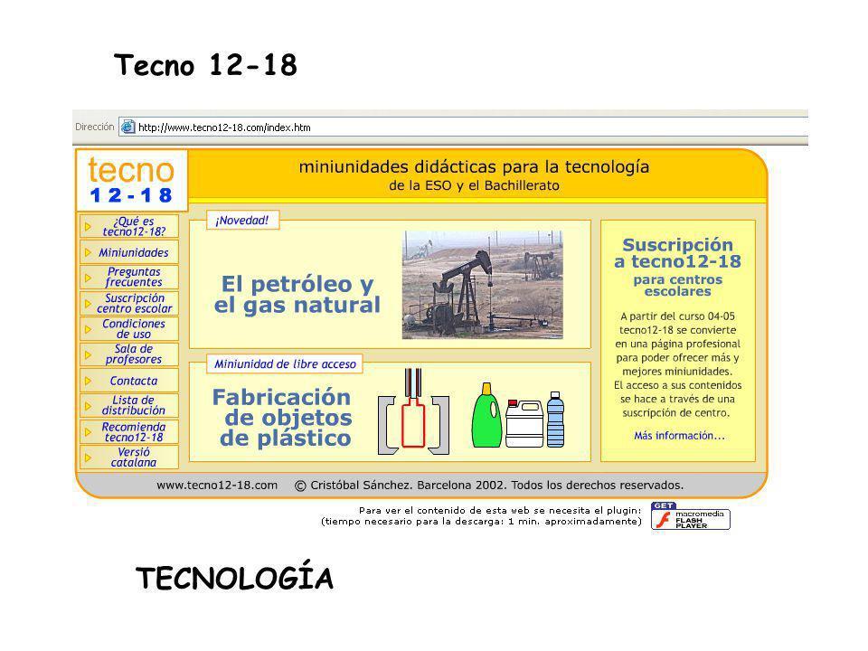 Tecno 12-18 TECNOLOGÍA