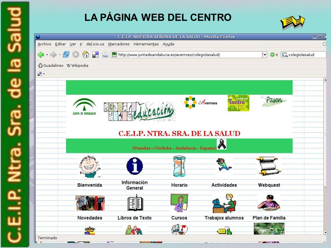 LA PÁGINA WEB DEL CENTRO