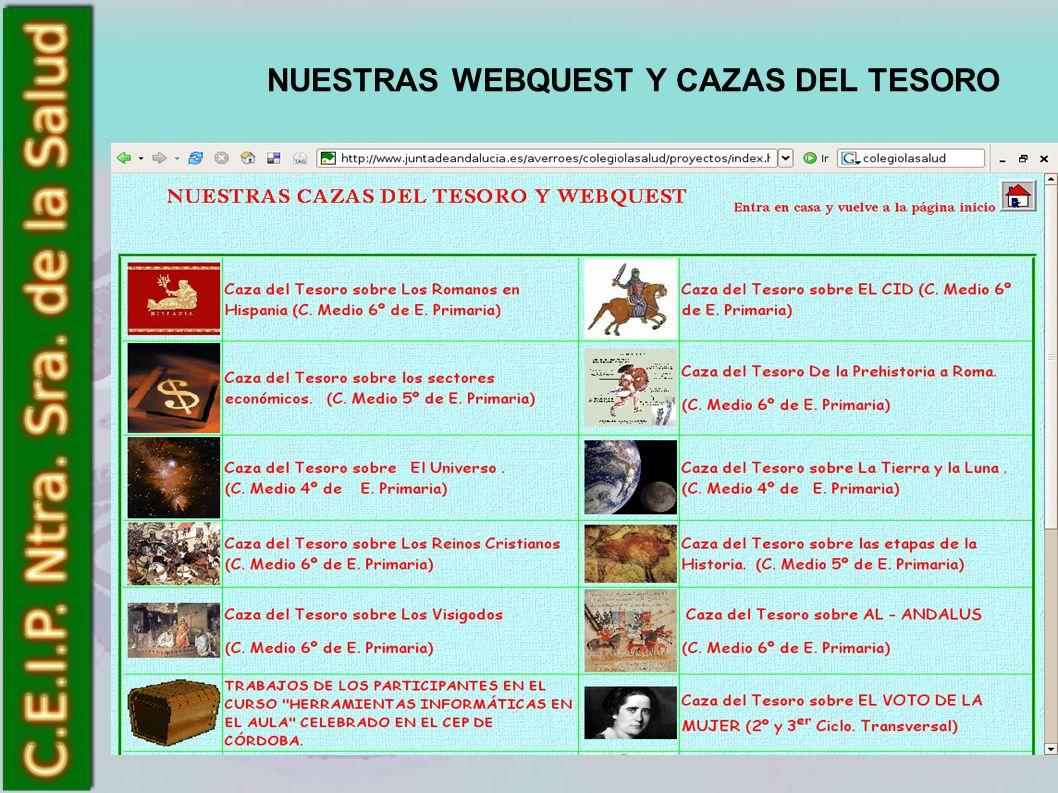 NUESTRAS WEBQUEST Y CAZAS DEL TESORO