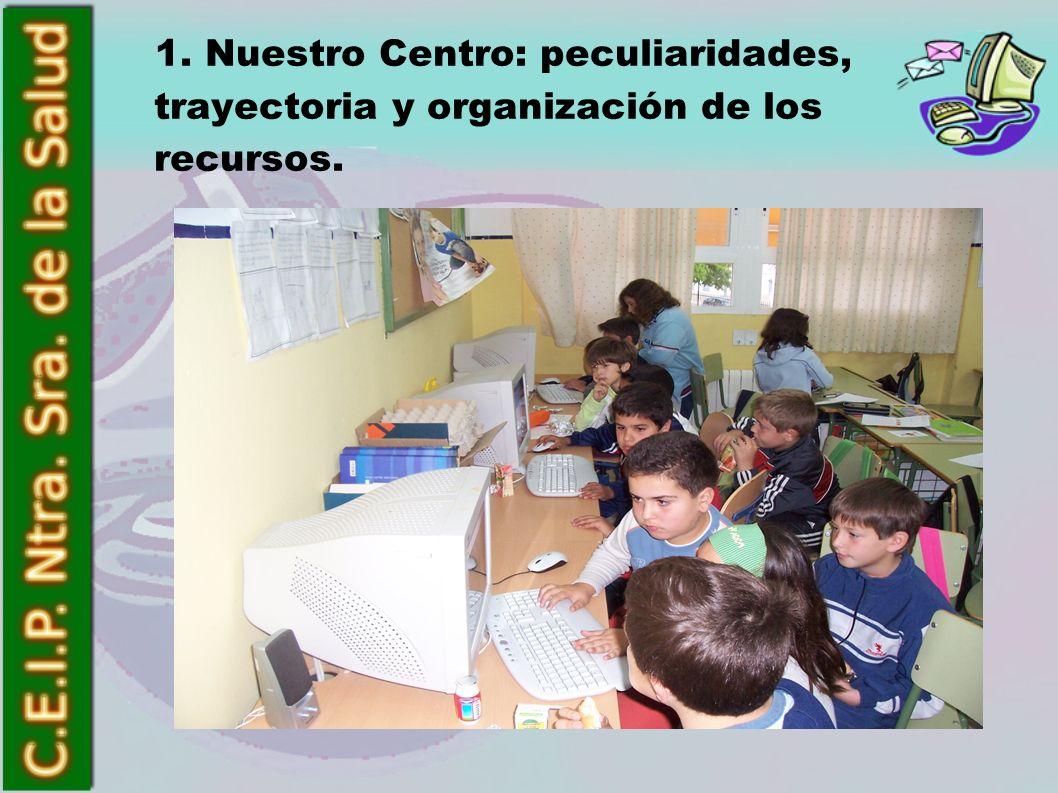 1. Nuestro Centro: peculiaridades, trayectoria y organización de los recursos.