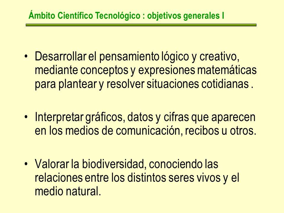 Desarrollar el pensamiento lógico y creativo, mediante conceptos y expresiones matemáticas para plantear y resolver situaciones cotidianas.