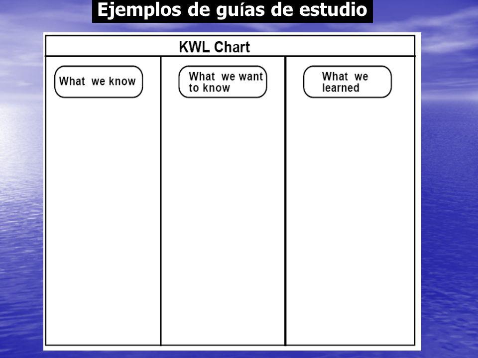 Ejemplos de gu í as de estudio