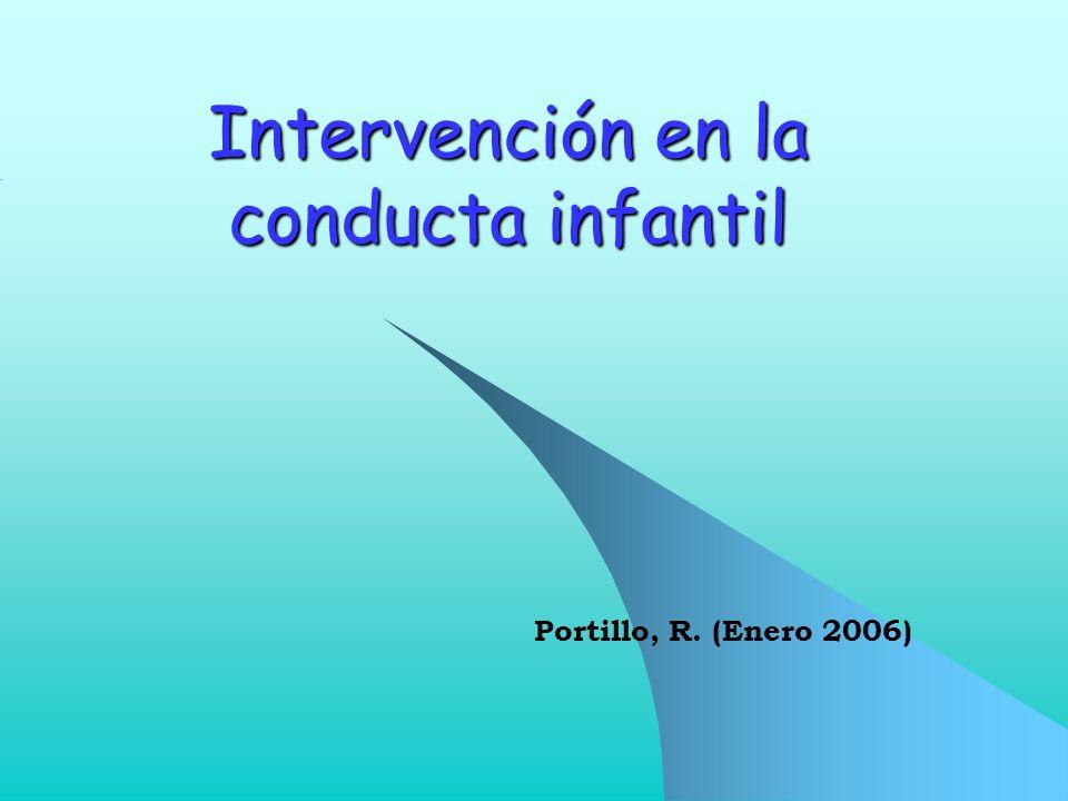 Intervención en la conducta infantil Portillo, R. (Enero 2006)