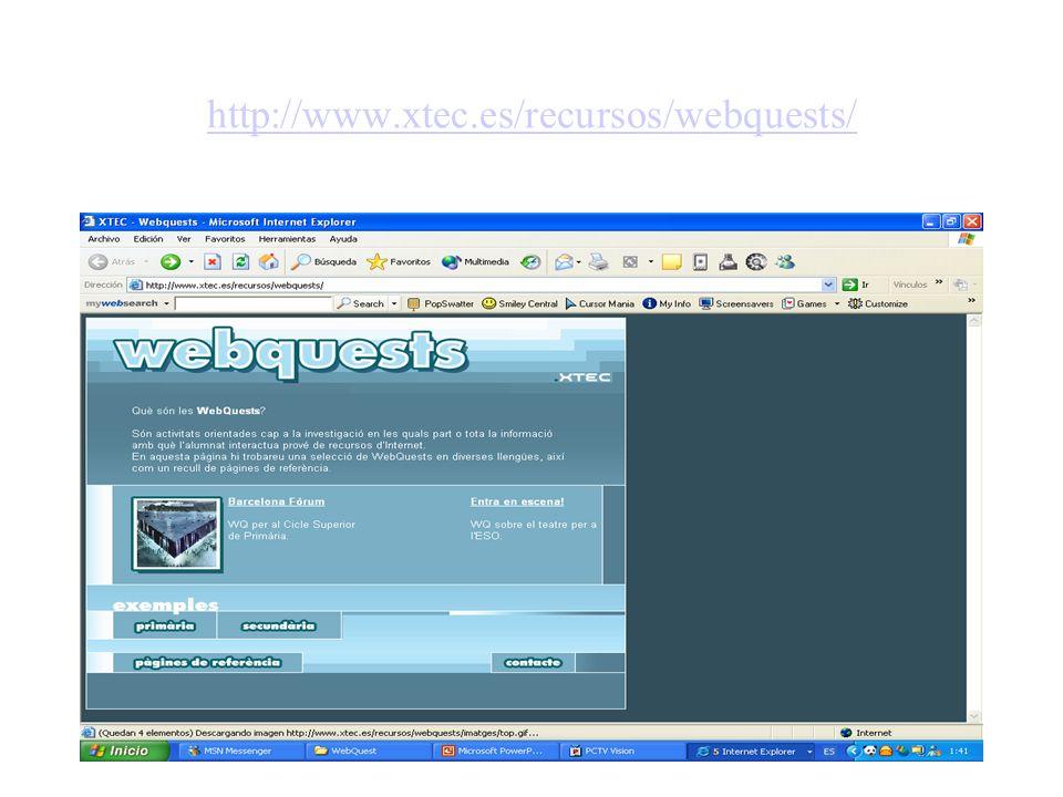 http://www.xtec.es/recursos/webquests/