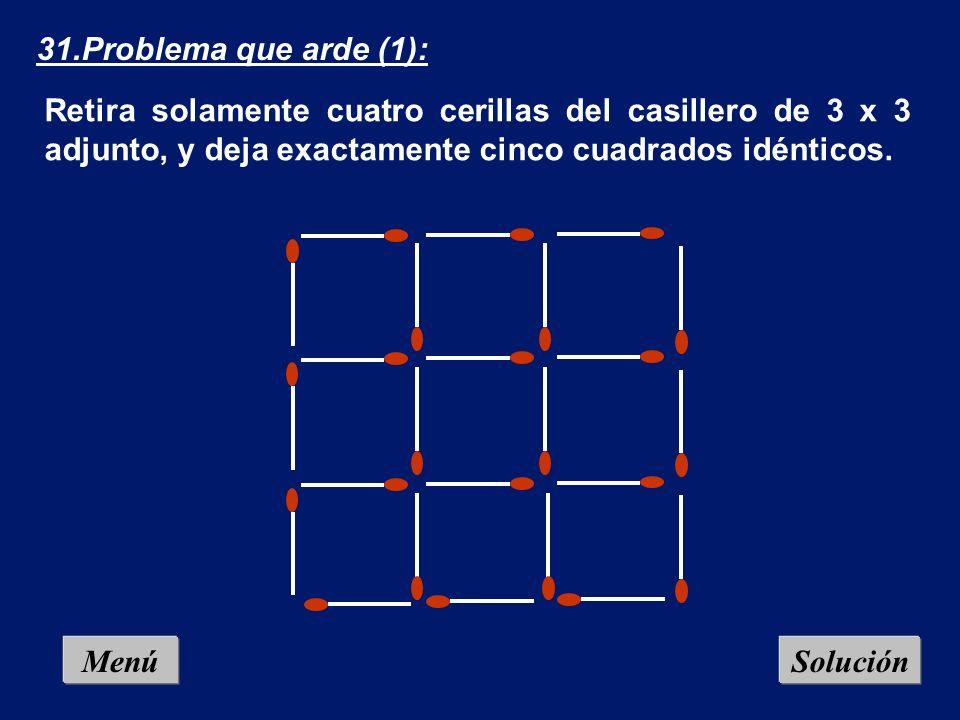 Menú 30.!Qué corte! (2) La suma de todas las cifras contenidas en el dibujo es 50. Divide el círculo, mediante una línea recta, en dos partes de forma